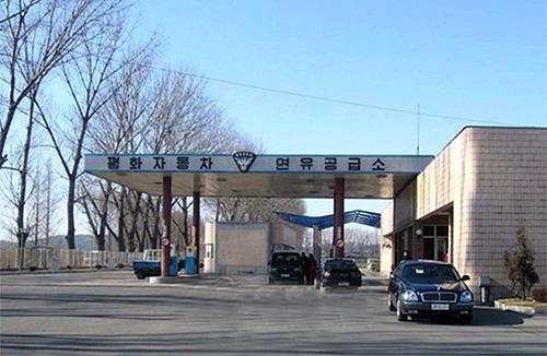 Автозаправочная станция в Пхеньяне