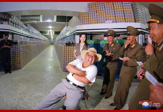 Ким Чен Ын на фабрике обработки засоленных рыбных продуктов 4