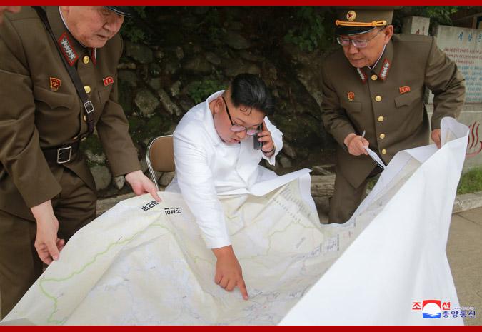 Ким Чен Ын в районе горячих источников уезда Яндок 3