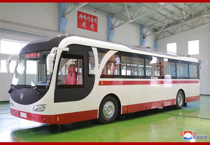 Новый троллейбус КНДР