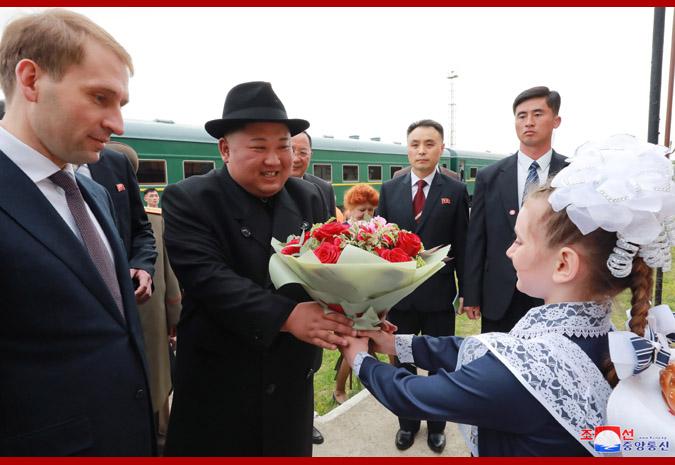 Ким Чен Ын прибыл во Владивосток 2