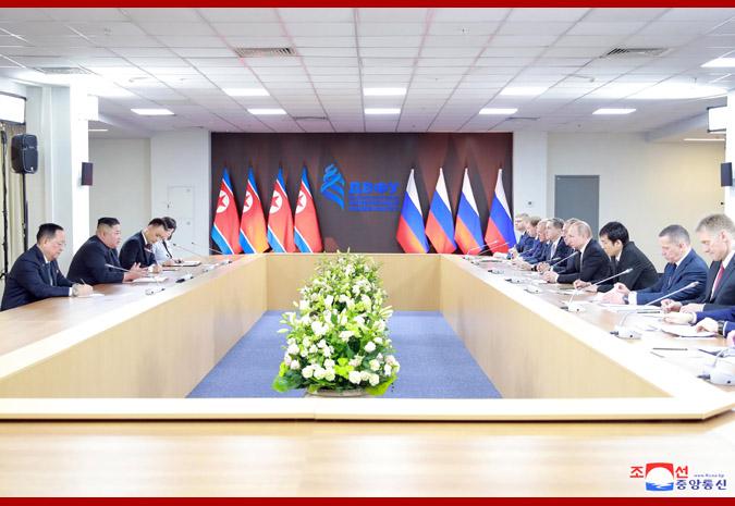 Ким Чен Ын провел переговоры с Путиным 1