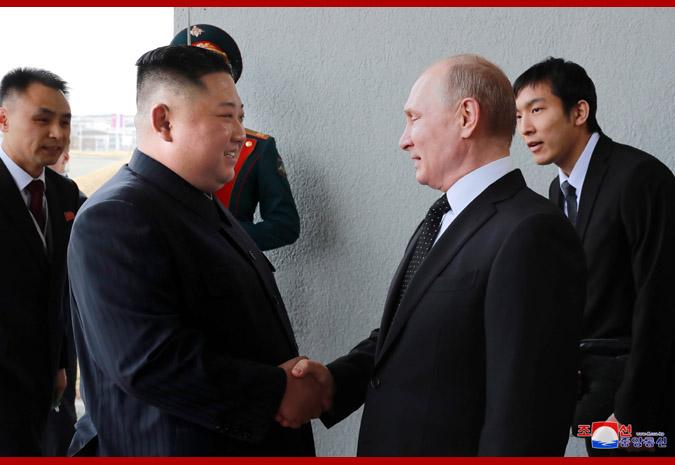 Ким Чен Ын встретился с Путиным 1