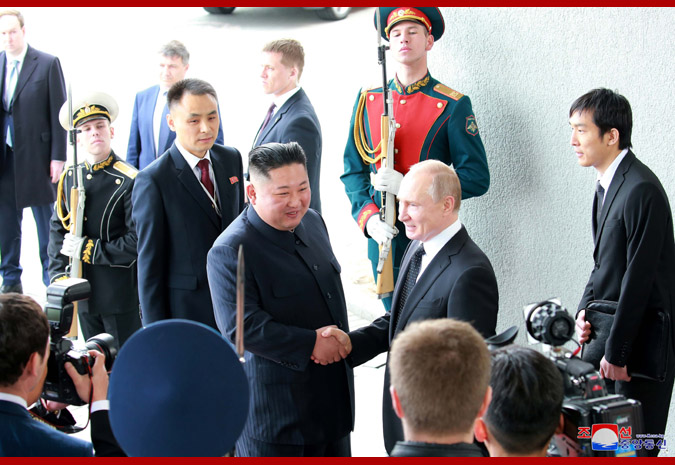 Ким Чен Ын встретился с Путиным 2