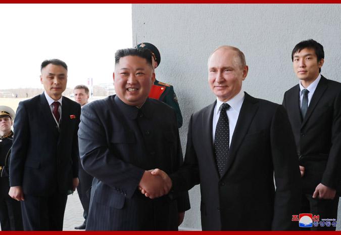 Ким Чен Ын встретился с Путиным 3