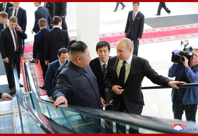 Ким Чен Ын встретился с Путиным 4
