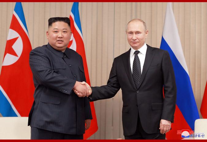 Ким Чен Ын встретился с Путиным 6