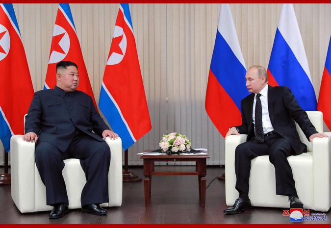 Ким Чен Ын встретился с Путиным 7