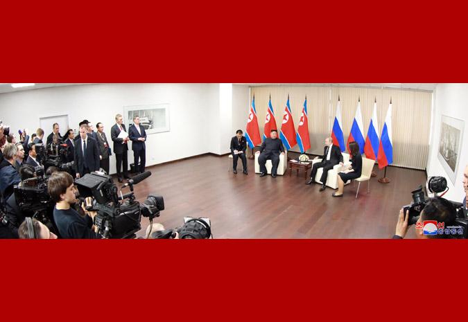 Ким Чен Ын встретился с Путиным 8