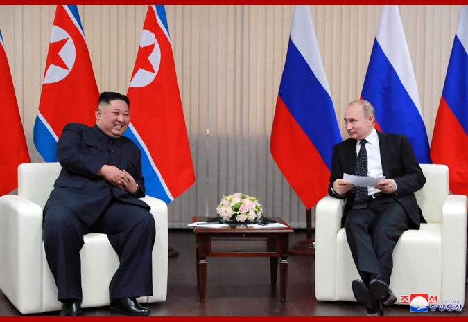 Ким Чен Ын встретился с Путиным 9