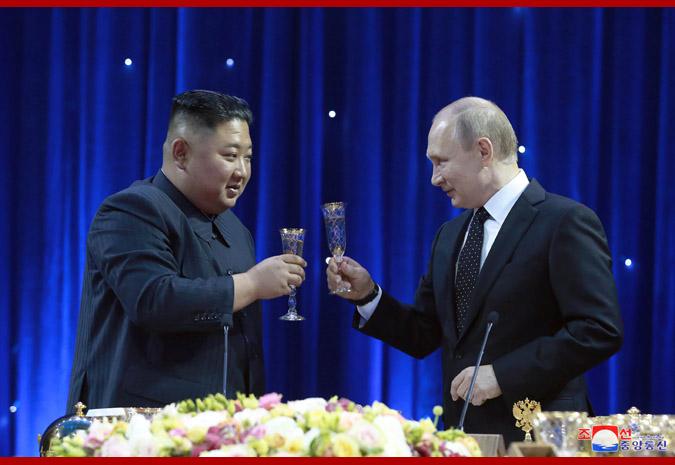 В честь Ким Чен Ына Путин устроил прием 3