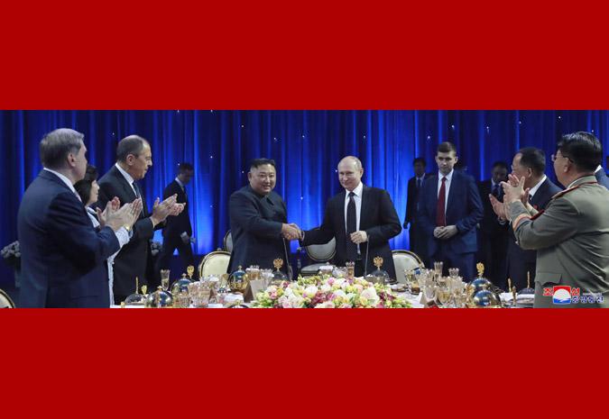В честь Ким Чен Ына Путин устроил прием 5