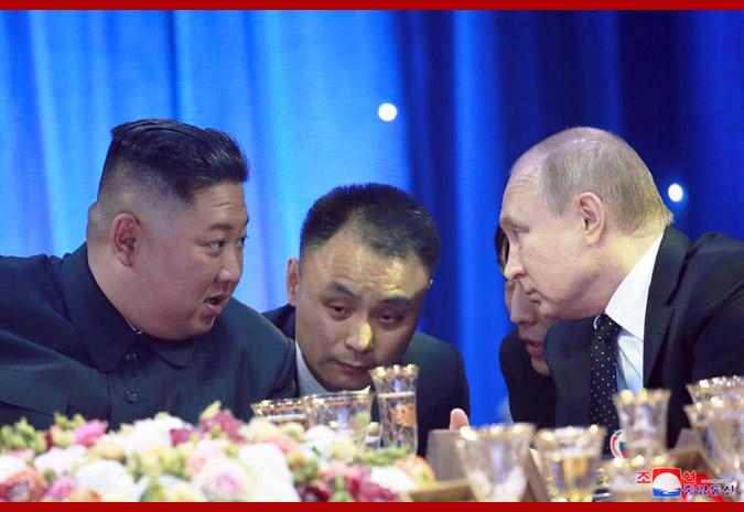 В честь Ким Чен Ына Путин устроил прием 7