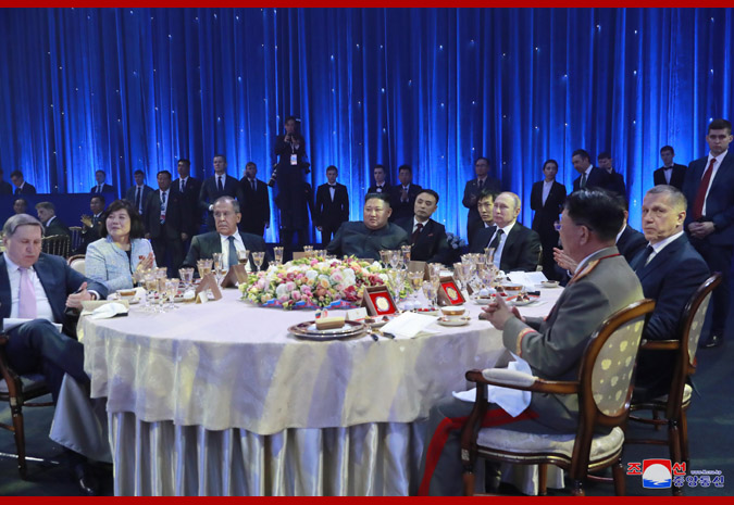 В честь Ким Чен Ына Путин устроил прием 9